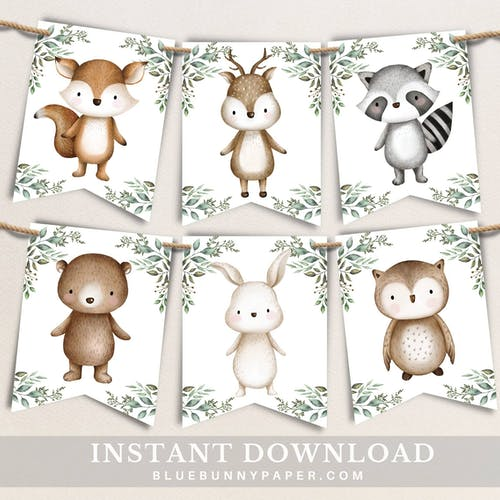 Woodland Party Bunting