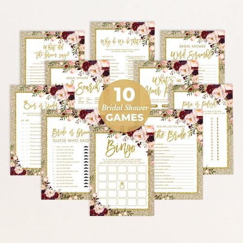 Bridal Shower Games Bundle