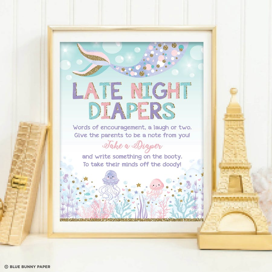 Late Night Diapers Sign