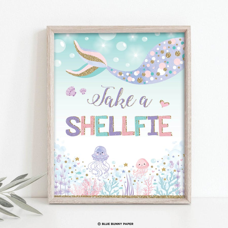 Take a Shellfie Party Sign