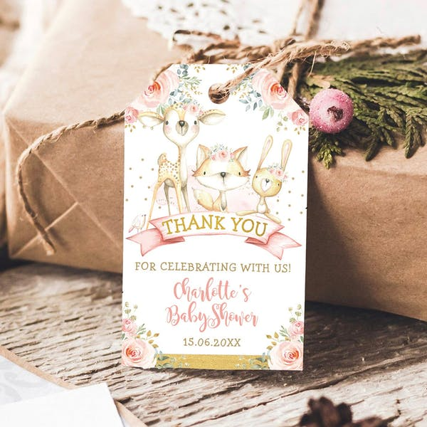 Favor Tags - Woodland Rose