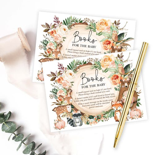 Woodland Books for Baby Cards