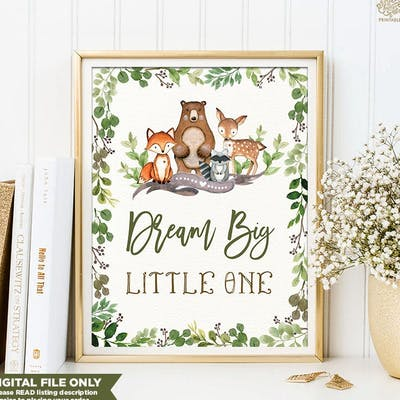 Dream Big Nursery Art