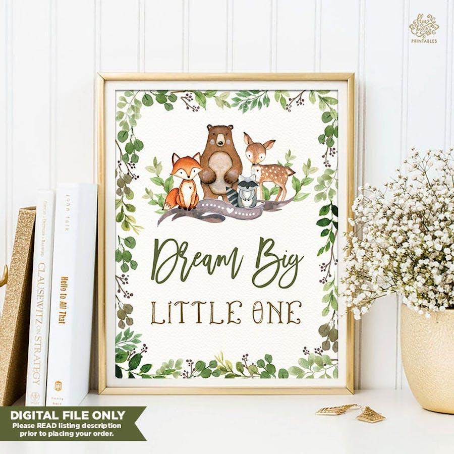 Dream Big Nursery Art