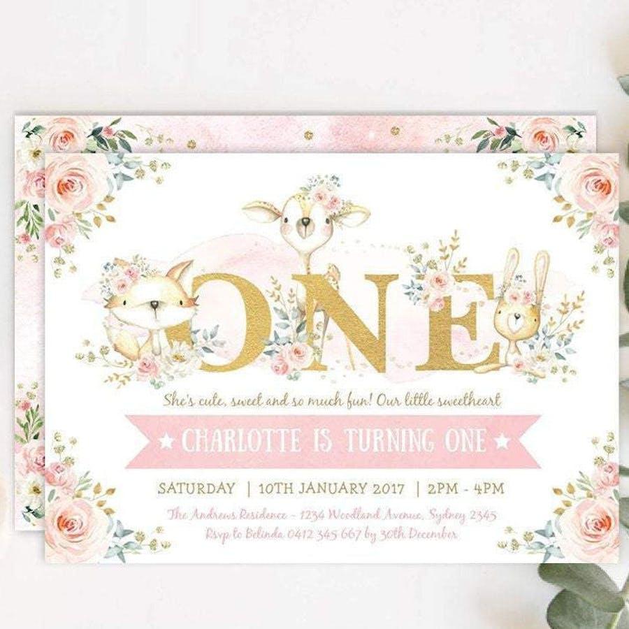ONE - First Birthday Invitation