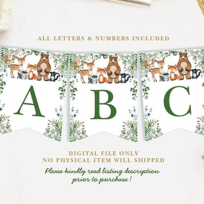 Woodland Baby Shower Banner