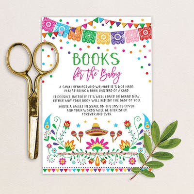 Mexican Fiesta Book Request Insert Card
