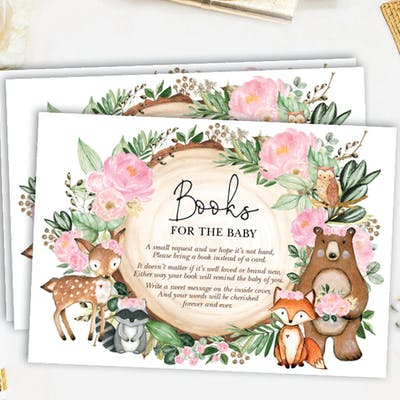 Woodland Animals Book Request Card