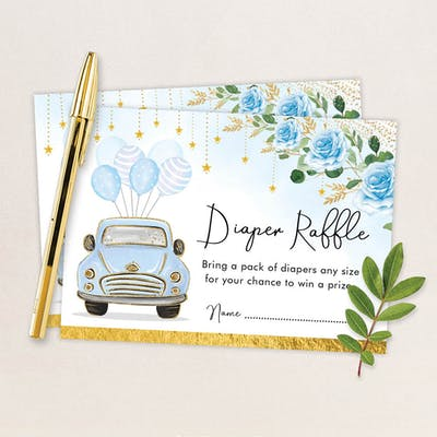 Diaper Raffle Card