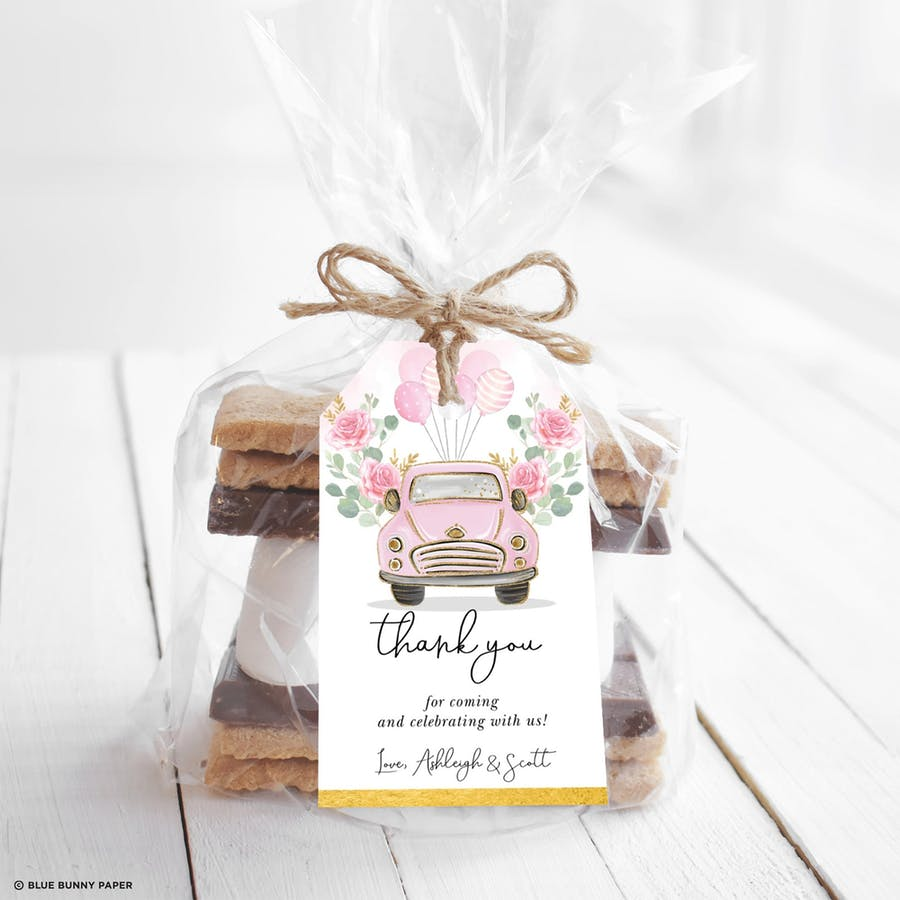 Pink Party Favor Tags