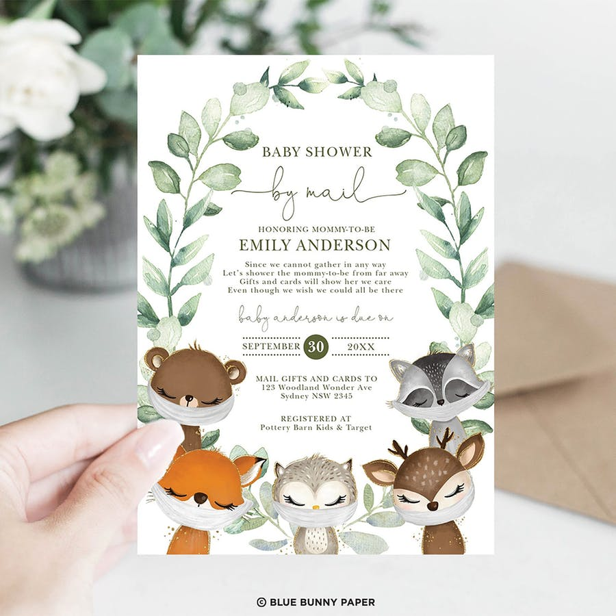 Baby Shower by Mail Invite