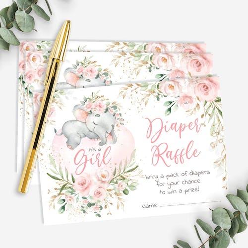 Diaper Raffle Card