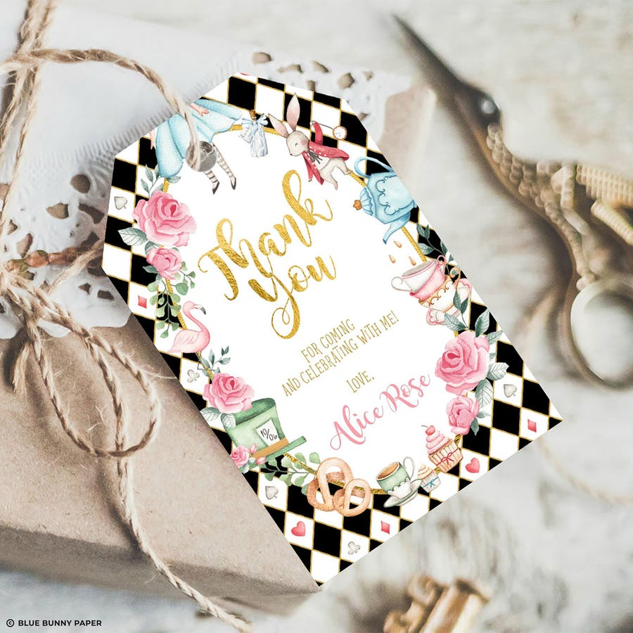 Alice in Wonderland Favor Tags