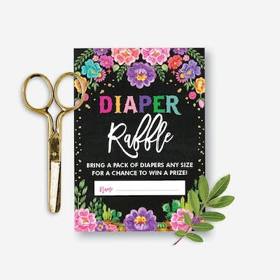 Mexican Fiesta Diaper Raffle Card