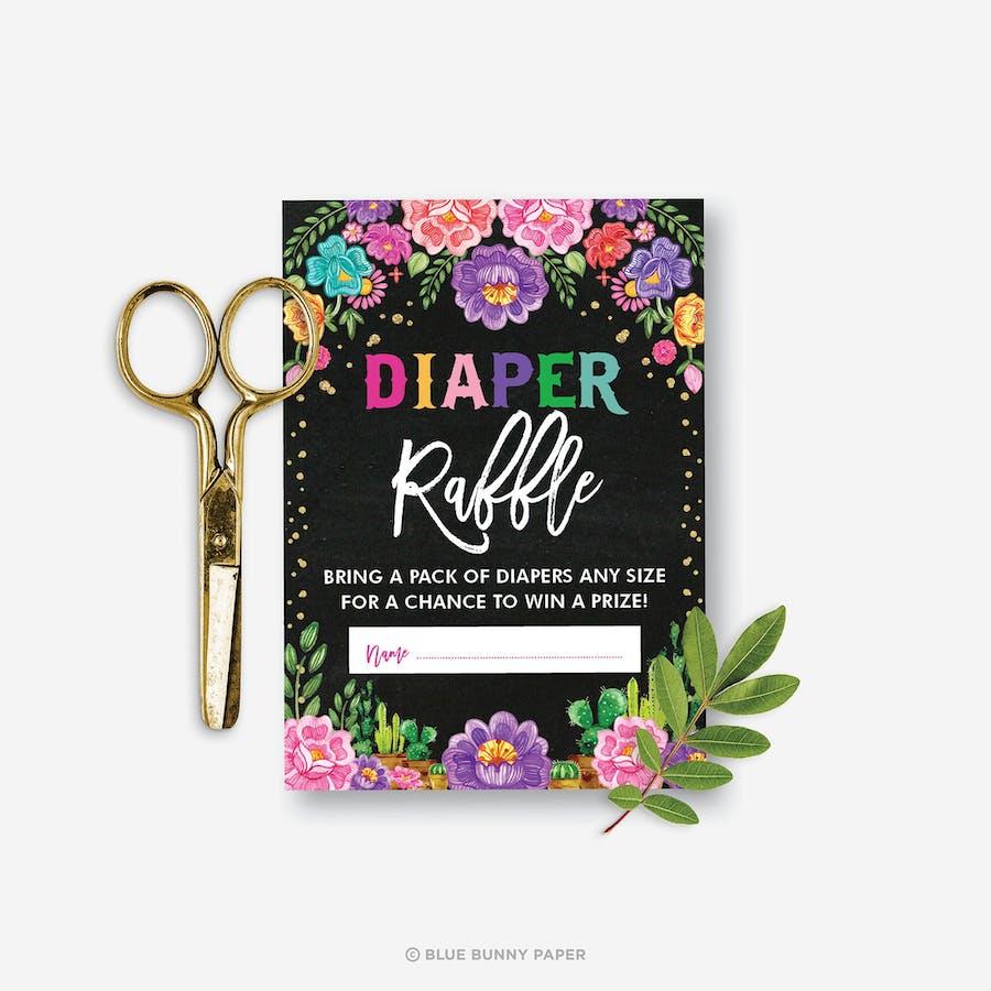Mexican Fiesta Diaper Raffle Card