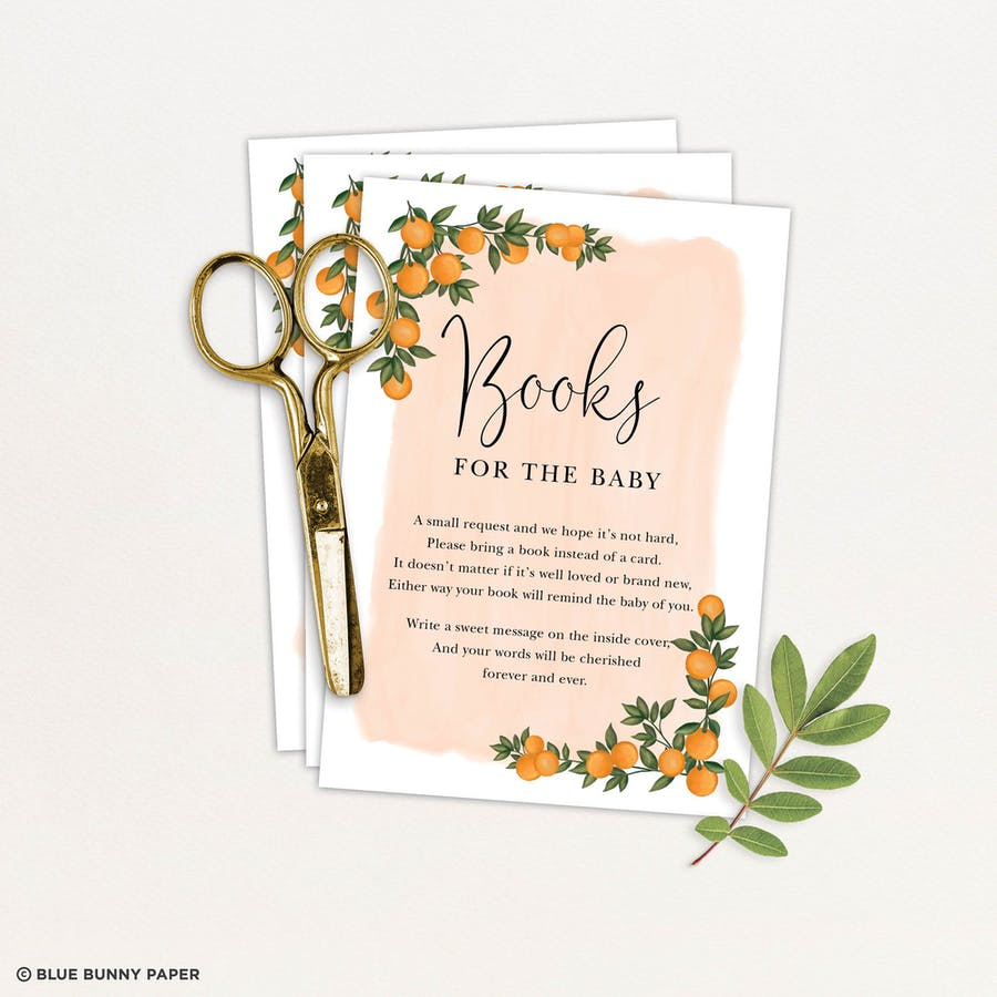 Baby Shower Book Request Card