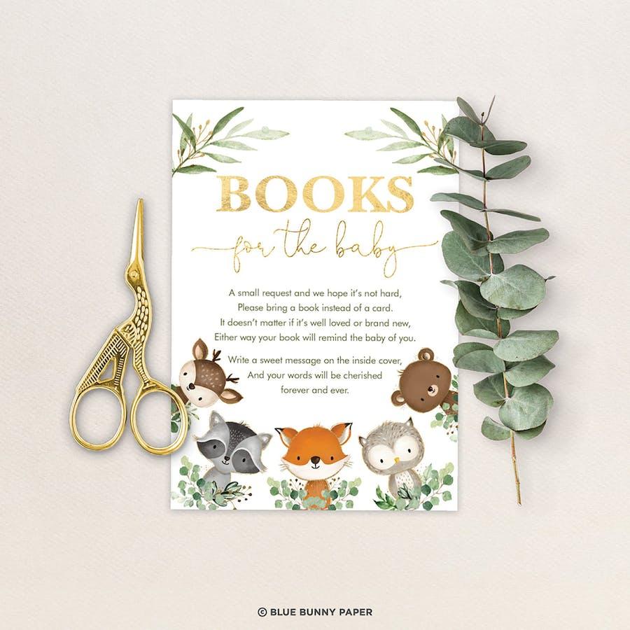Woodland Book Request Insert Card