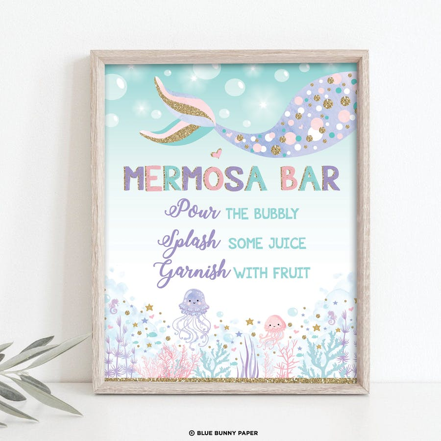 Mermaid Mermosa Bar Sign