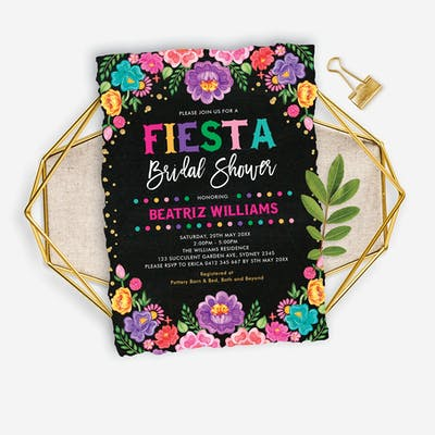 Mexican Fiesta Bridal Shower Invite