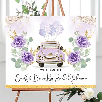 Drive by Party Welcome Sign