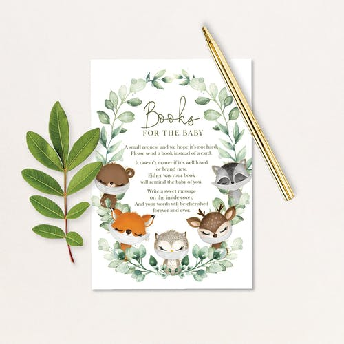 Baby Shower Books for Baby Card