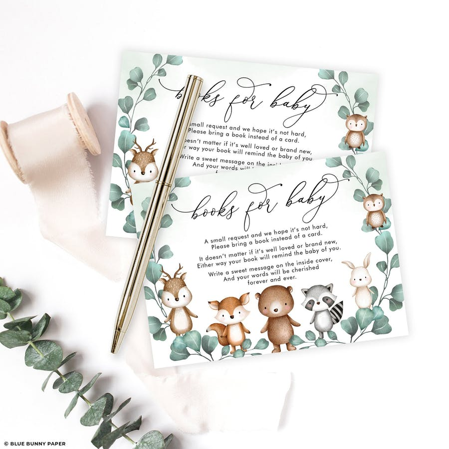 Woodland Animals Books for Baby Card