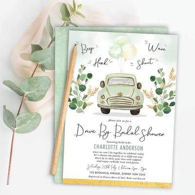 Drive Through Bridal Shower Invite