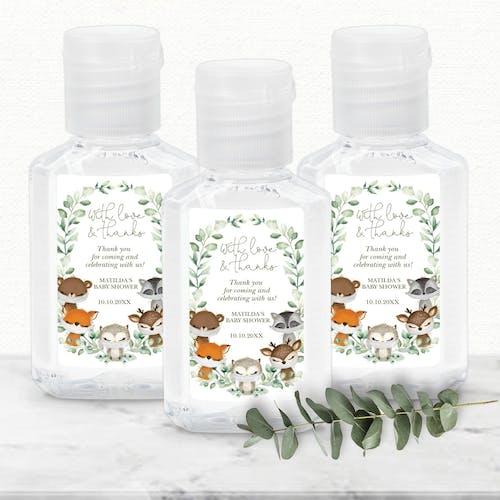 Baby Shower Hand Sanitizer Label