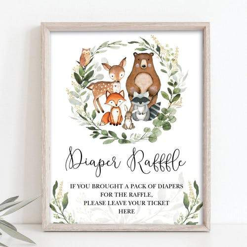 Diaper Raffle Party Sign