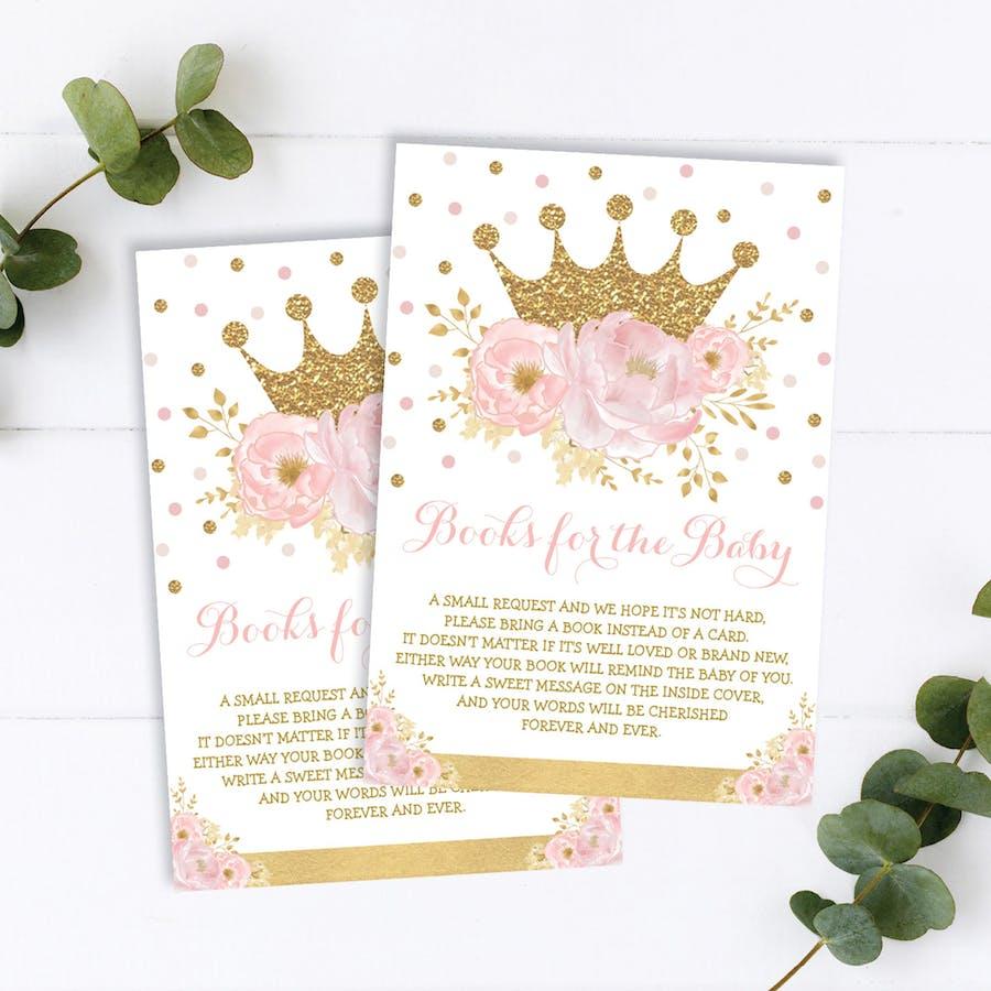 Princess Book Request Insert Card
