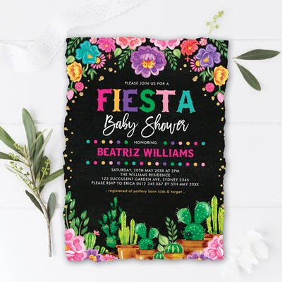 Mexican Fiesta Baby Shower Invite