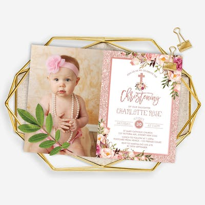 Christening / Baptism Photo Invitation