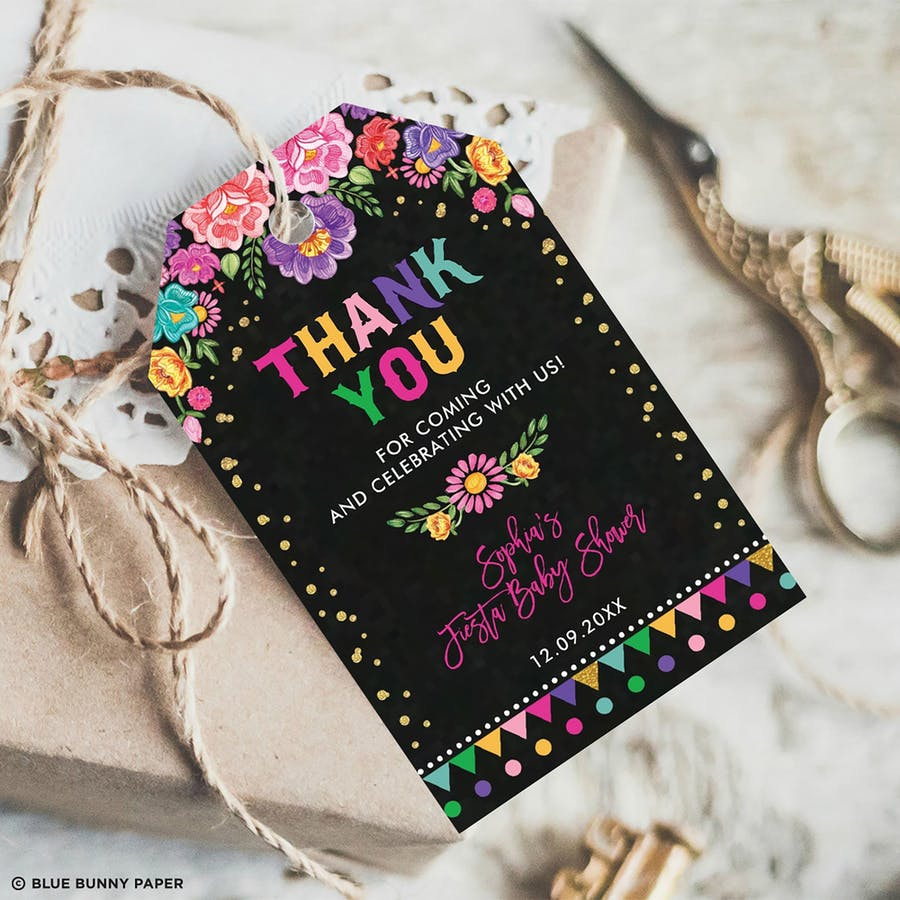 Mexican Fiesta Party Favor Tags