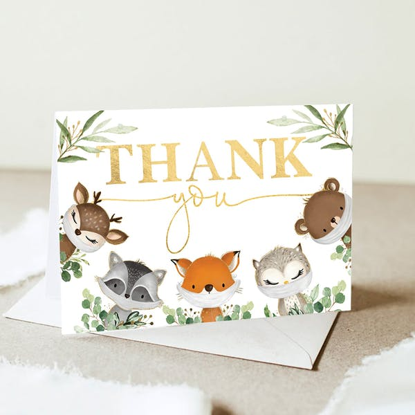 Thank You Card - Tiny Critters