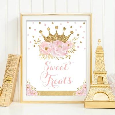 Princess Sweet Treats Sign