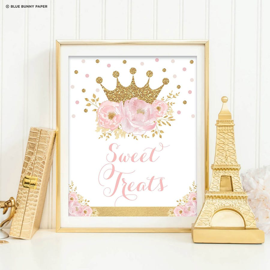 Princess Sweet Treats Sign