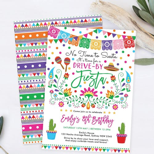 Drive by Birthday Invite