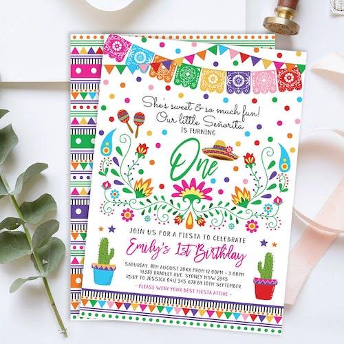 Little Senorita Birthday Invite