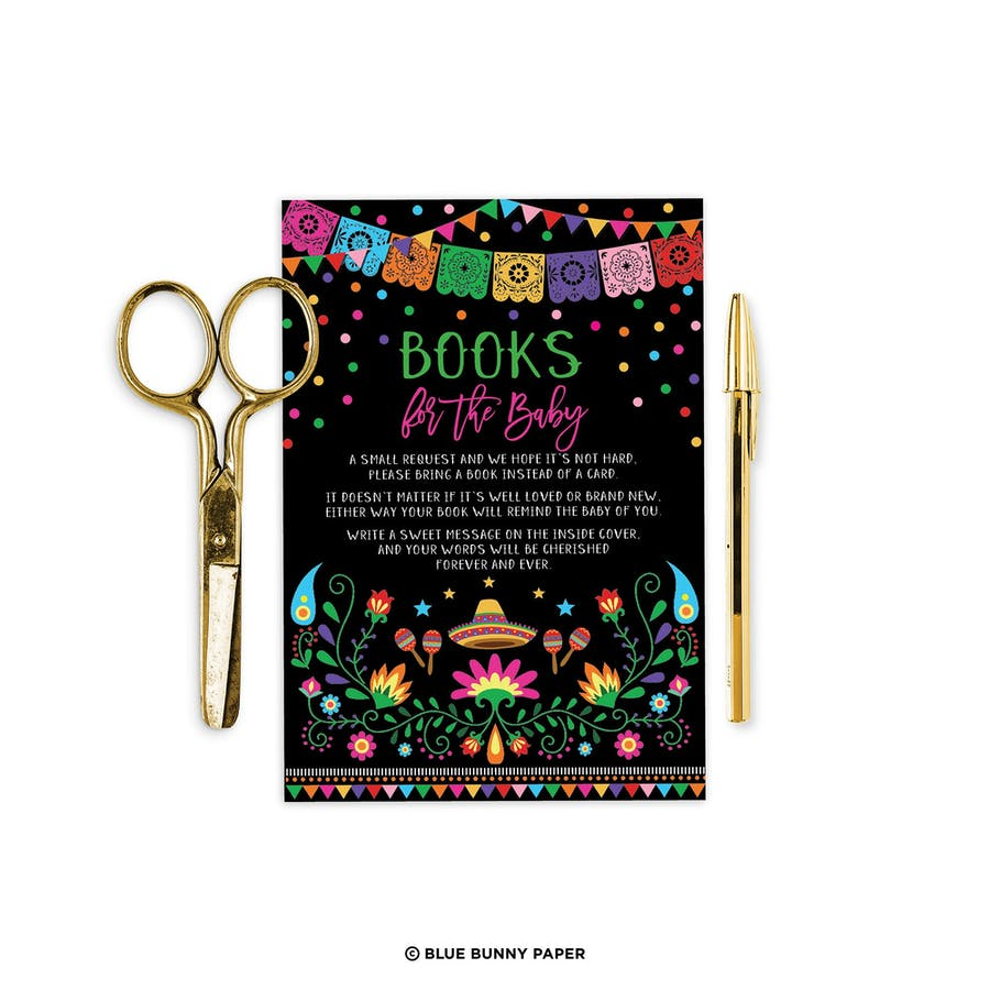 Mexican Fiesta Book Request Insert Card