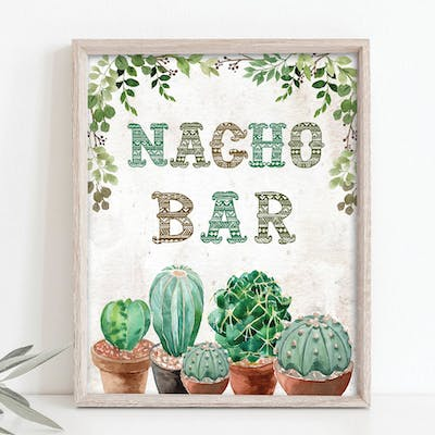 Nacho Bar Sign