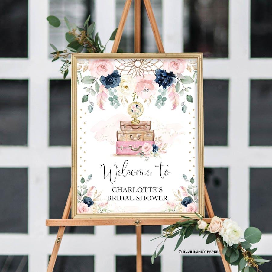 Boho Bridal Shower Welcome Sign
