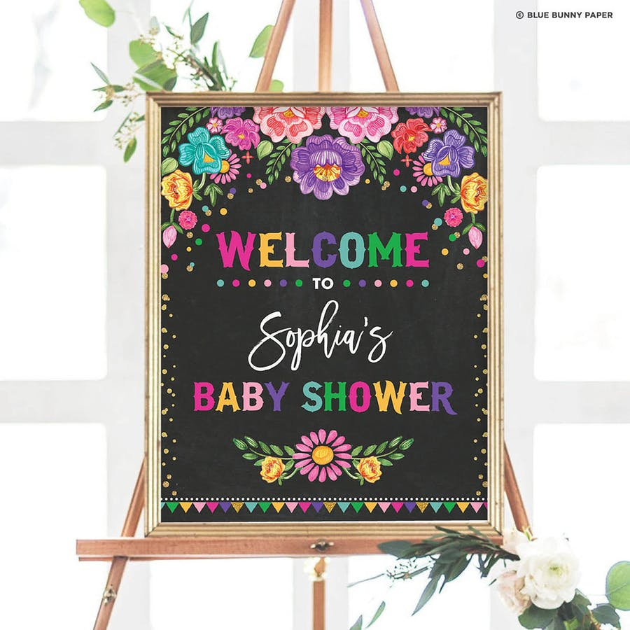 Mexican Fiesta Party Welcome Sign