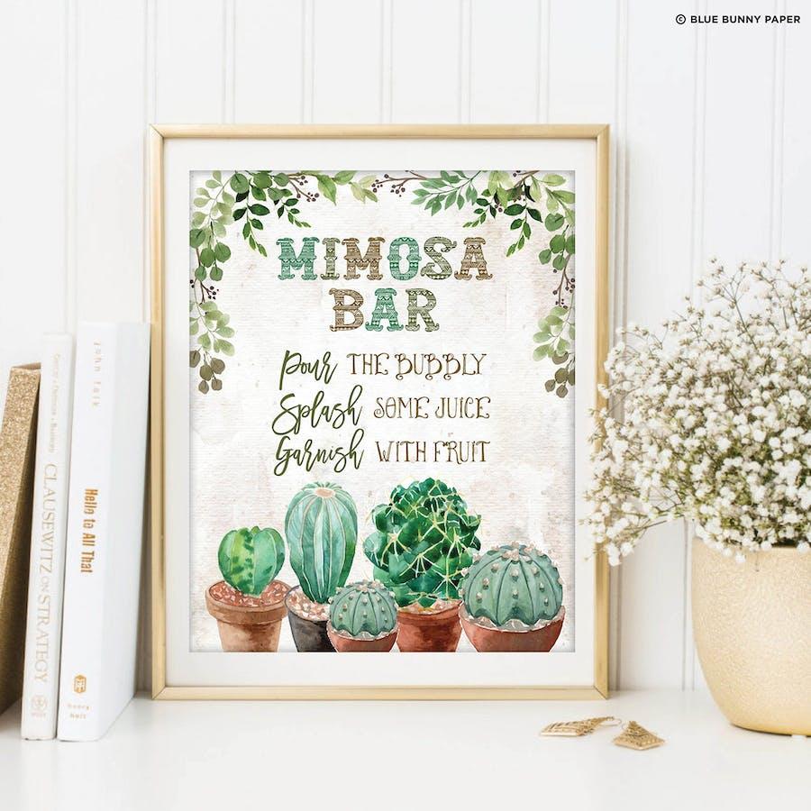 Mimosa Bar Sign
