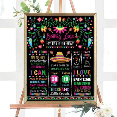 Birthday Milestone Poster
