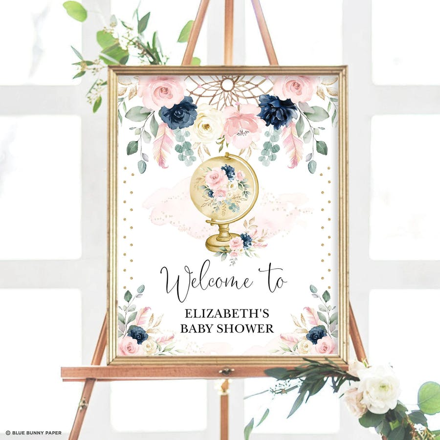 Boho Baby Shower Welcome Sign