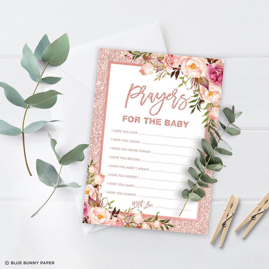 prayers for baby baptism party game