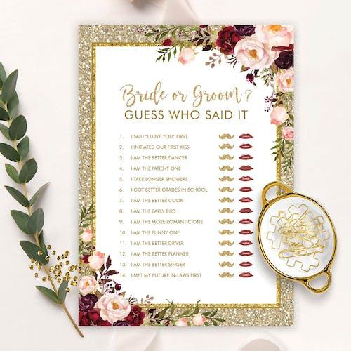 Bride or Groom Game