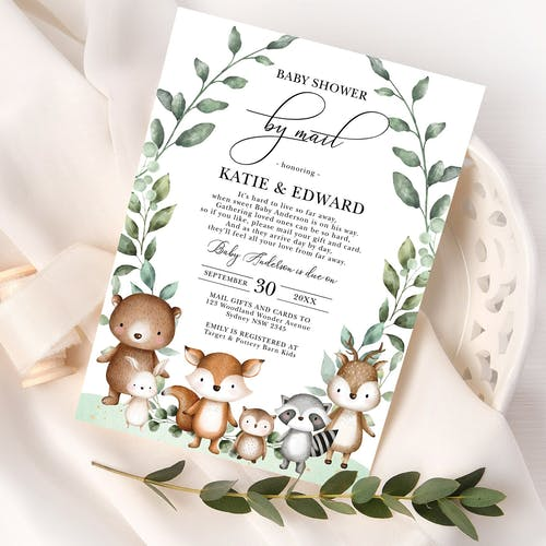 Baby Shower by Mail Invitation