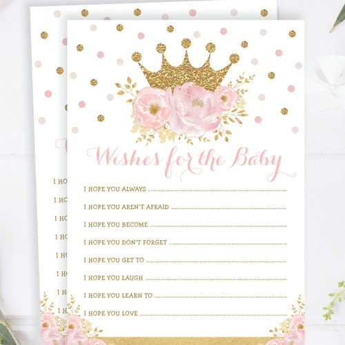 Princess Wishes for the Baby Shower Game