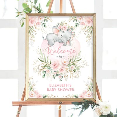 Baby Shower Welcome Sign